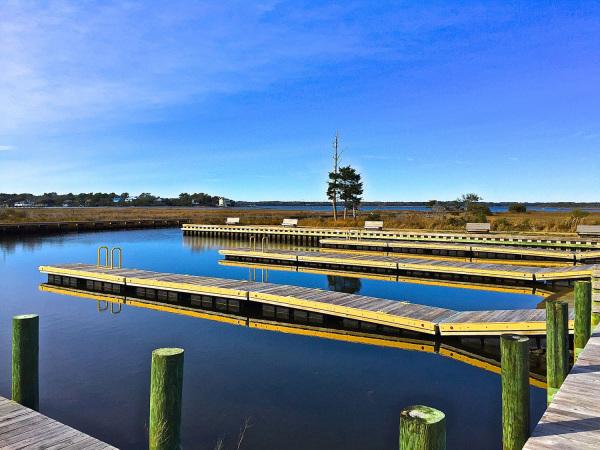 The new boat ramp in Emerald Isle NC