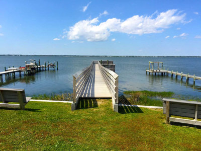 Park Street Park dock in Emerald Isle NC