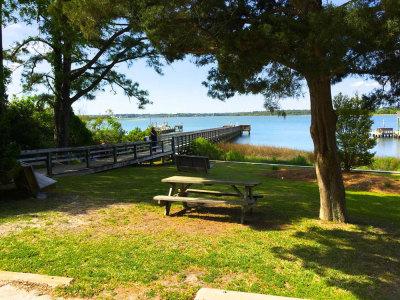 Cedar Street Park picnic area in Emerald Isle NC