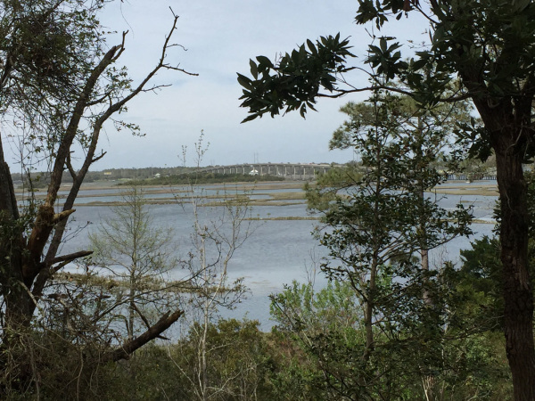 Emerald Woods Park overlooking Bogue Sound