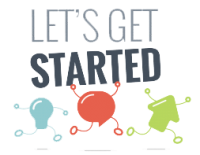 Lets get started graphic