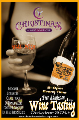 Christina's wine boutique flyer
