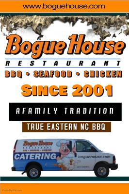 Bogue House Restaurant flyer