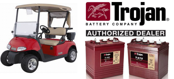 Trojan Battery dealer for GOlf Carts