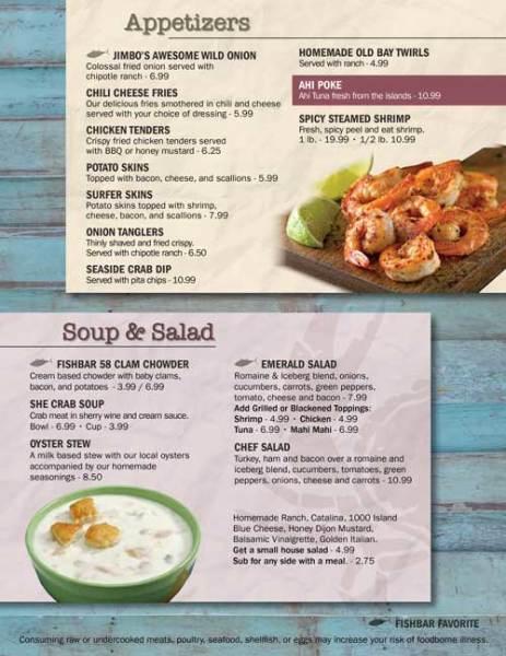 Fishbar 58 Appetizer & Soup Menu