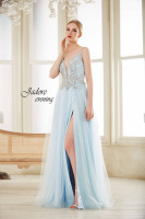Jadore V NECK BEADED BODICE GOWN J14042