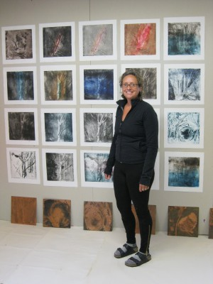 Libby Weir in the studio, 2007.