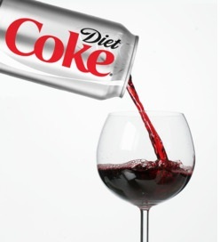Wine vs. Diet Coke (original post October 2011)