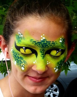 Yuba City face painter, Yuba, Sutter, Colusa, Butte, California, Reptile face painting, face art