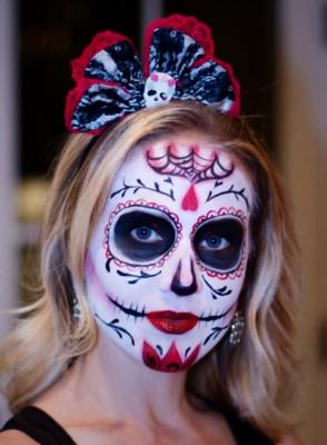 Yuba City face painter, Yuba, Sutter, Butte, Colusa, Live Oak, California, sugar skull, dia de los muertos