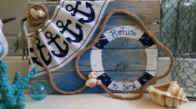 Refuse to sink rustic sign painting class