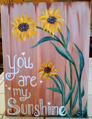 You are my sunshine canvas paint class