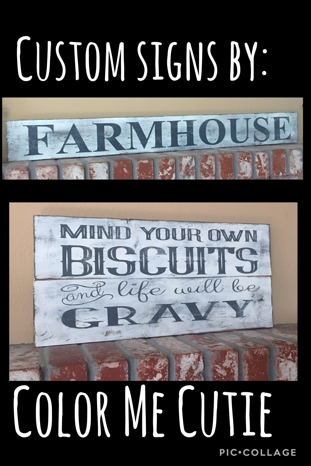Custom Farmhouse wood signs by Stacey Ringseth