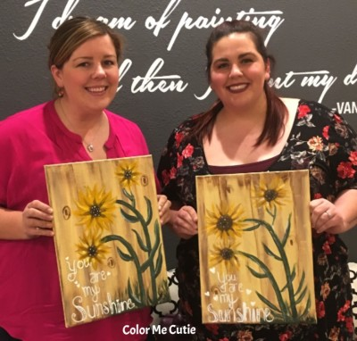 Sunflowers Paint class
