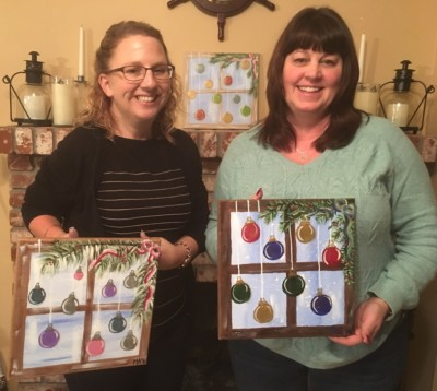 Ornament Window Painting Class by Color Me Cutie