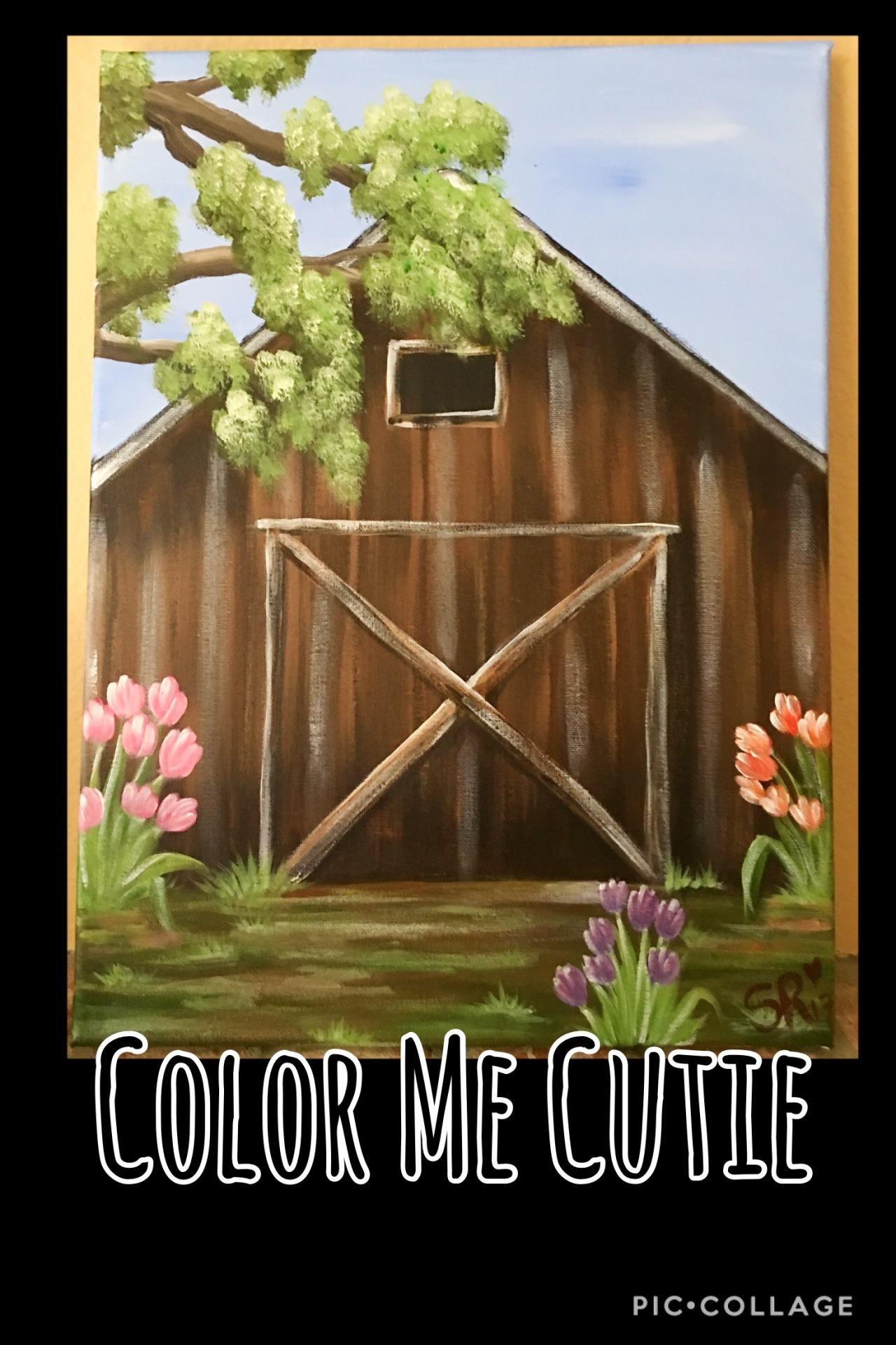 Spring Barn Canvas Paint Class Option
