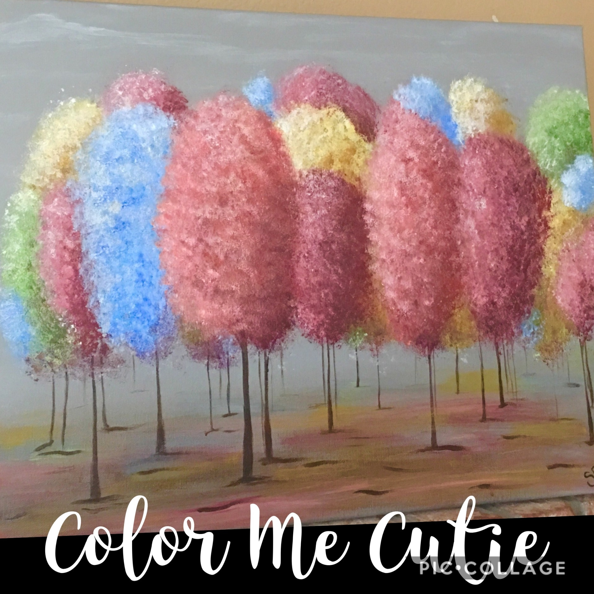 Fluff Trees canvas Painting