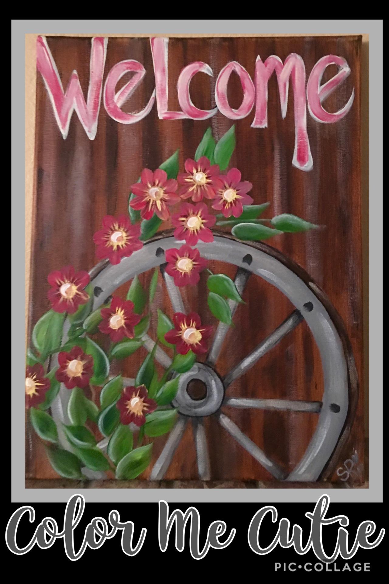 Wagon Wheel Canvas Paint Class Option