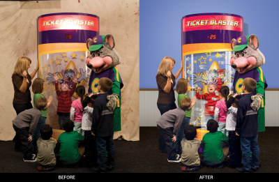 Chuck E. Cheese's Retouching