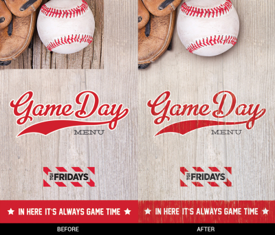 TGI Fridays Game Day Menu Retouch