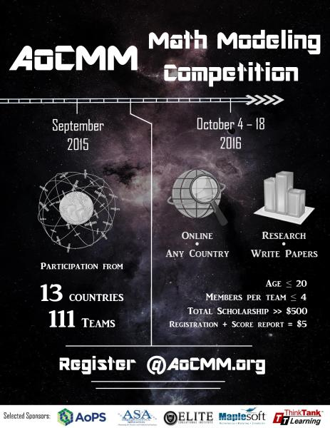 AoCMM Math Modeling Competition 2016 Poster