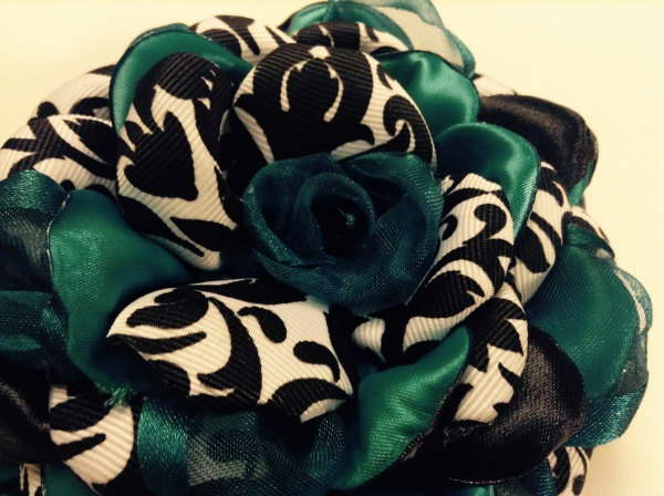 Damask with teal