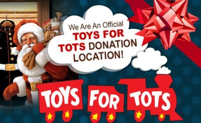 We Are An Official TOYS FOR TOTS DONATION LOCATION!