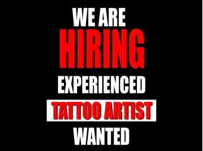 Now Hiring Experienced Tattoo Artist