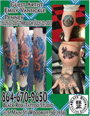 Emily Vansickle Penney Guest Tattoo Artist