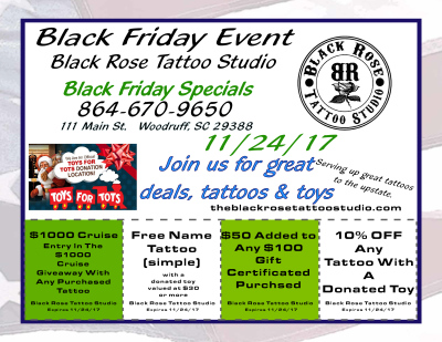 Black Friday Tattoo Special
