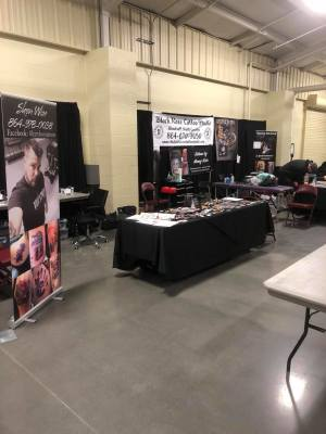 Booth Setup at Inkfest live 2018