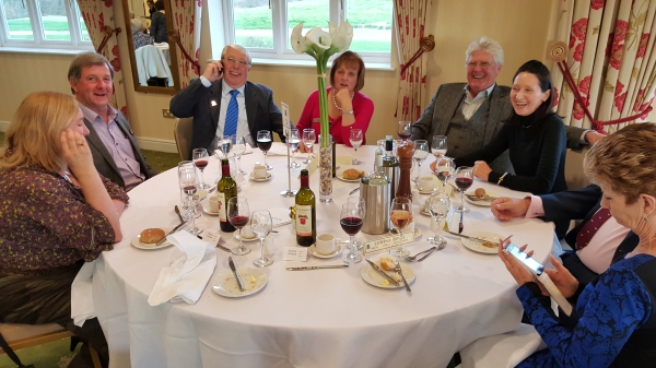 Lunch after the AGM   silver service of course