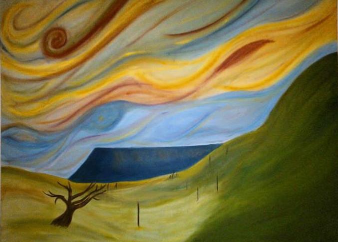 Black Mountain Painting
