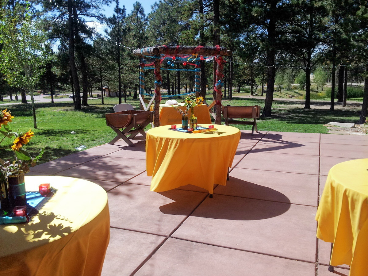 Outside Yellow Wedding