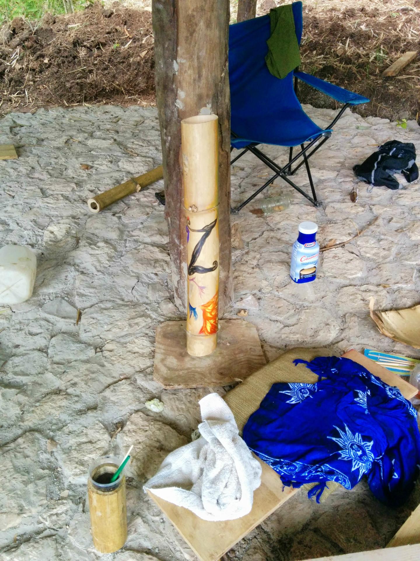 Zimbali, bamboo, painting,