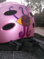 helmet, pink, Seymore, Eye man