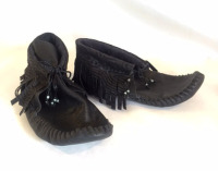 up-cycled leather, up-cycled jacket, recycled leather moccasins