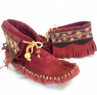 up-cycled leather, up-cycled jacket, recycled leather moccasins, bohemian,