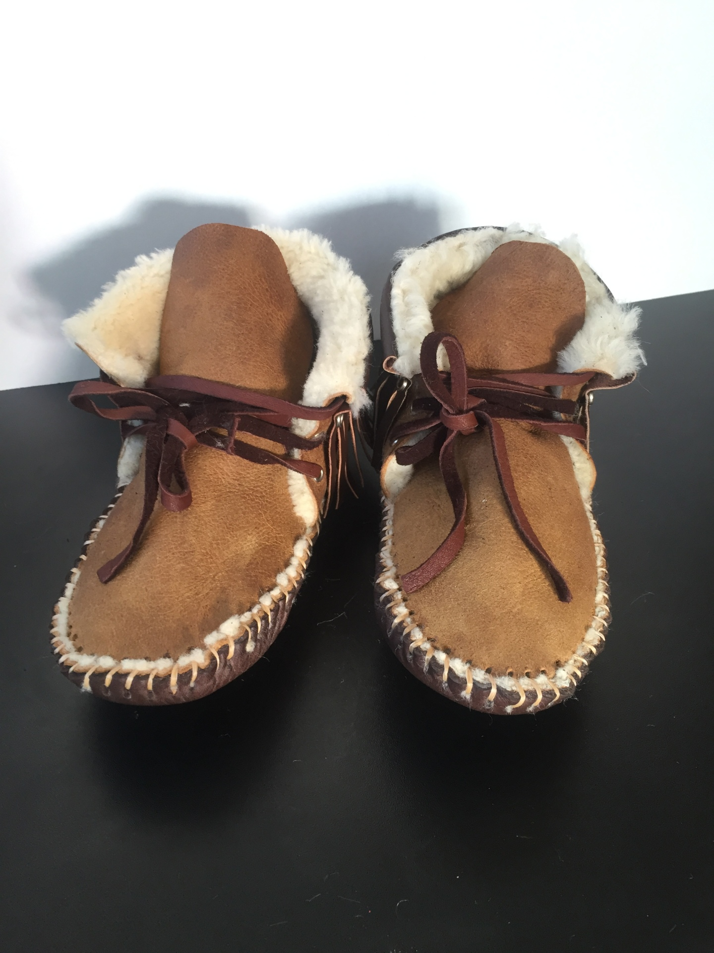 Wool Lined, Moccasin, Genuine Leather Moccasin