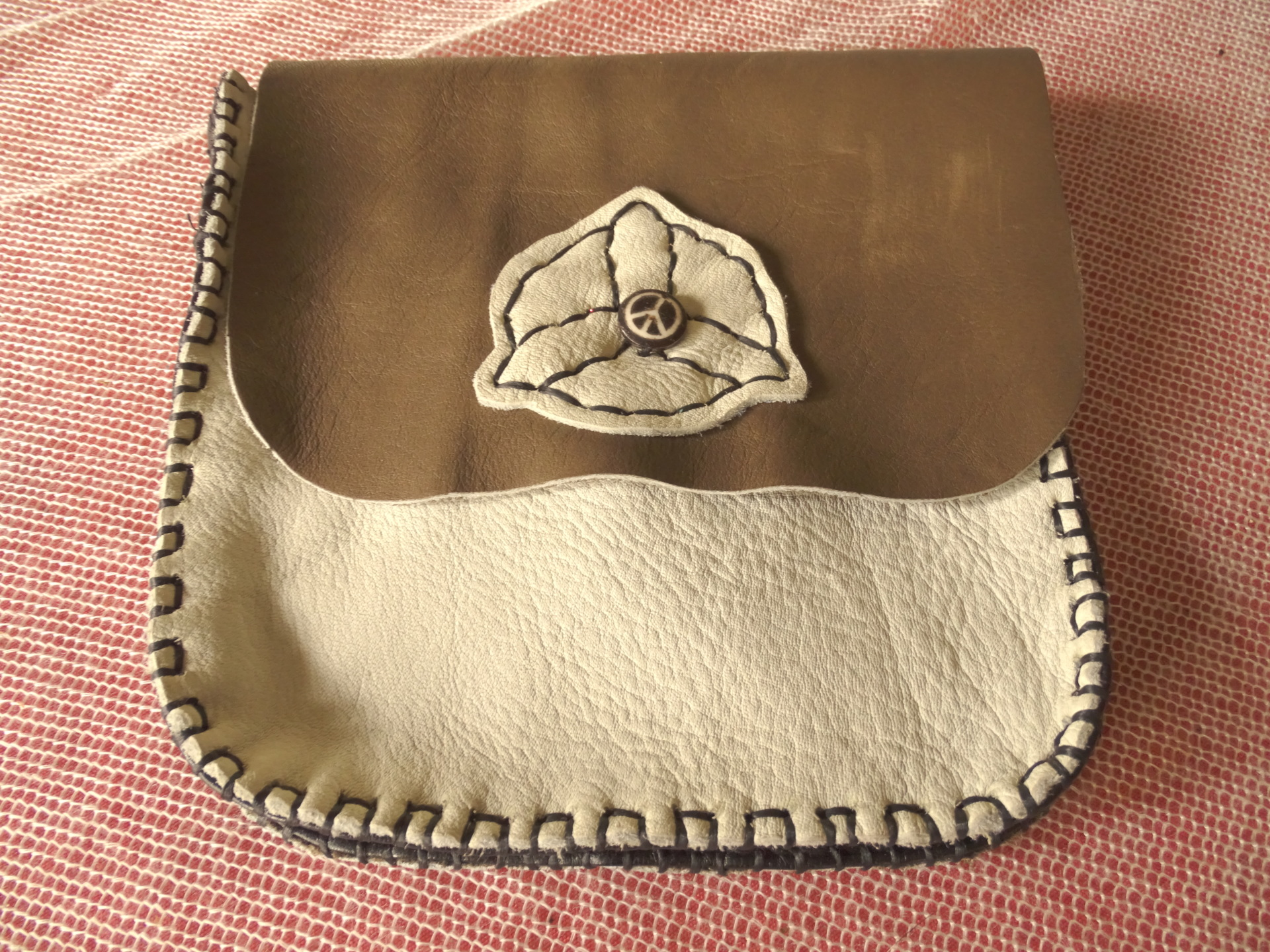 Up-cycled sporran, up-cycled leather sporran, up-cycled bag, sporran, recycled sporran, Celtic sporran