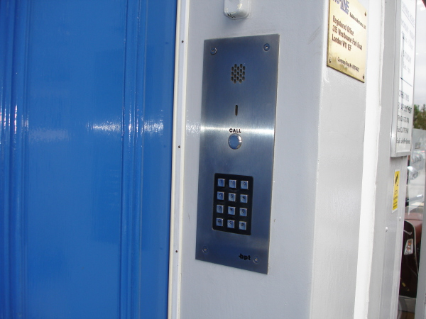 Flush mounted stainless steel audio entry system