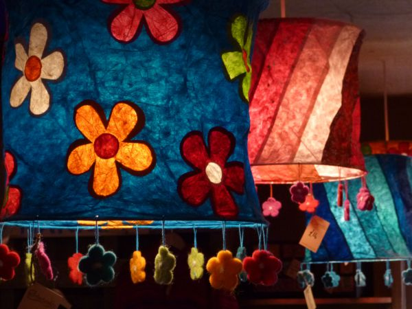 Bright and fun lampshades that can funk up any room!