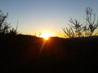 Sunset on Meditation Mount.