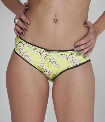 guerrilla-geisha-cherry-blossom-unique-print-knickers-London-lime-green