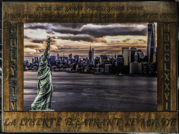 "LIBERTY ENLIGHTENING THE WORLD  36""X48""      SOLD"