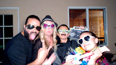 Backyard Party Photo Booth