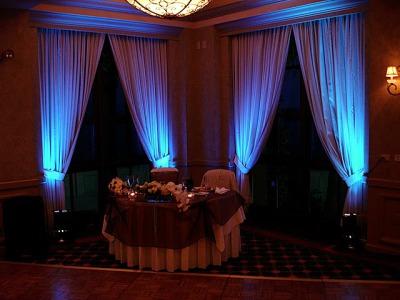 Up-lighting for weddings
