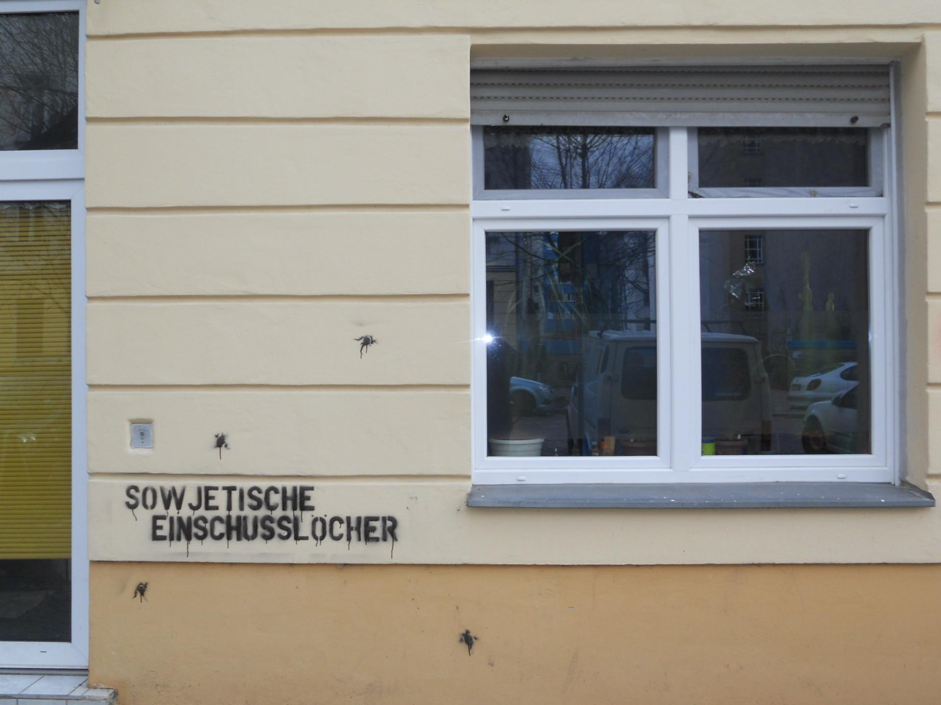 Soviet bullet holes  Berlin 2011