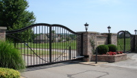 wrought iron automated gate installed by nes security