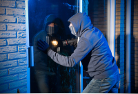 burglar breaking into home without a nes security alarm